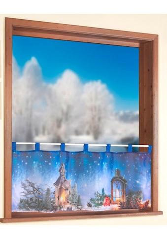 Scheibengardine, »Weihnachtslaterne«, Weckbrodt, Schlaufen 1 Stück kaufen