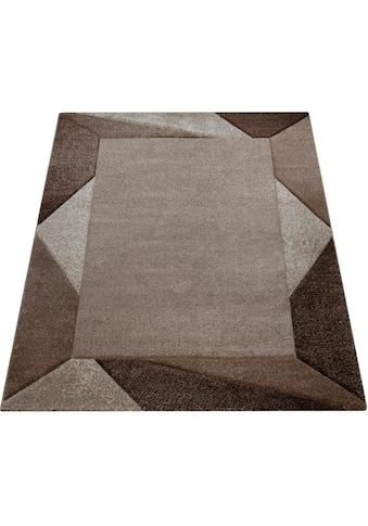 Paco Home Teppich »Diamond 675«, rechteckig, 18 mm Höhe, Kurzflor mit 3D-Muster und... kaufen