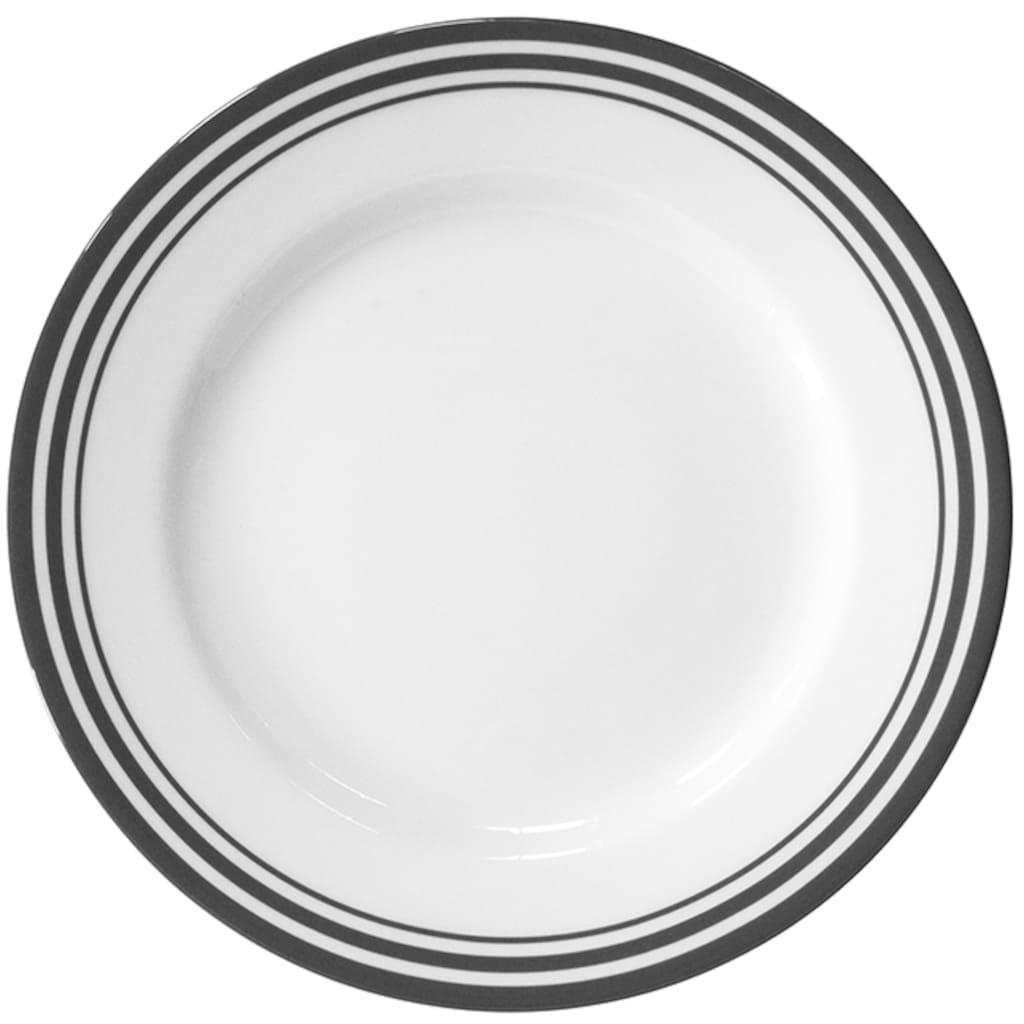 Fink Dessertteller »Moments«, (Set, 4 St.), Ø 21 cm, Porzellan mit 3 Streifen