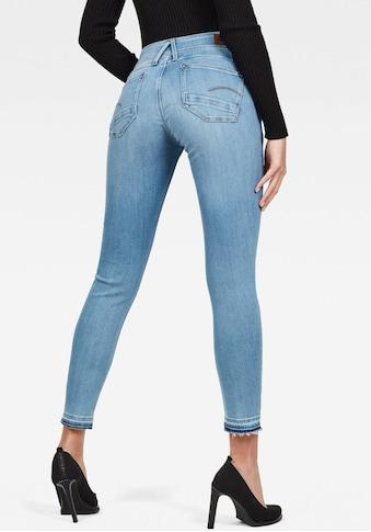 G - Star RAW Skinny - fit - Jeans »Lynn Mid Waist Skinny Ripped« kaufen