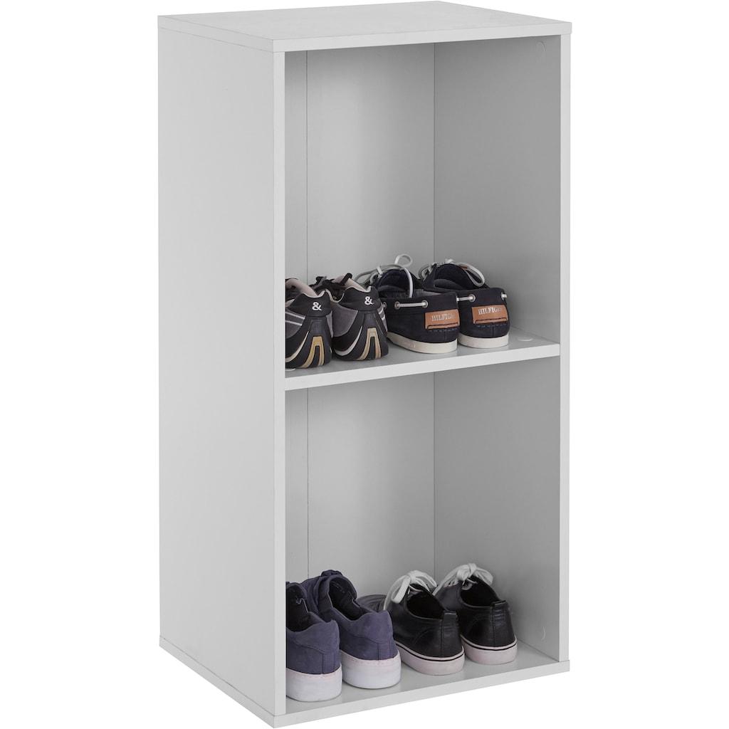 INOSIGN Schuhregal »Fricka«, mit einer schönen Holzfolien Optik, Stauraum für ca. 3 bis 6 Paar Schuhe, Höhe 84,5 cm