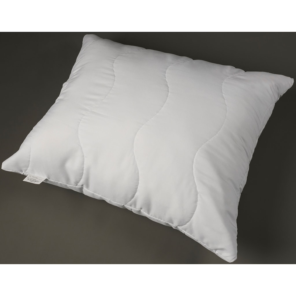 MPS TEXTILES Microfaserkissen »Eisbär Polar«, Füllung: Polyesterfaser, Bezug: Polyester, (1 St.), kann ihnen einen angenehmen und erholsamen Schlaf ermöglichen