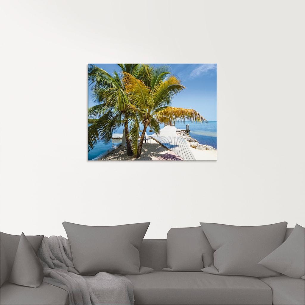 Artland Glasbild »Florida Keys Himmlischer Blick«, Strand, (1 St.)