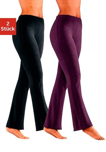 Vivance Jazzpants, (2er-Pack), mit leicht ausgestelltem Bein kaufen