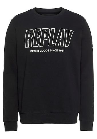 Replay Sweatshirt, mit Logoprint kaufen