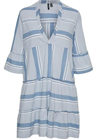 Vero Moda Curve Blusenkleid, Mit Volants an Ärmeln und Saum kaufen