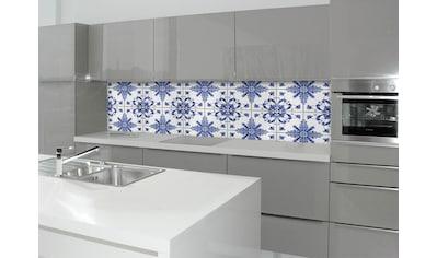 Küchenrückwand  -  Spritzschutz »profix«, Delfter Fliese, 220x60 cm kaufen