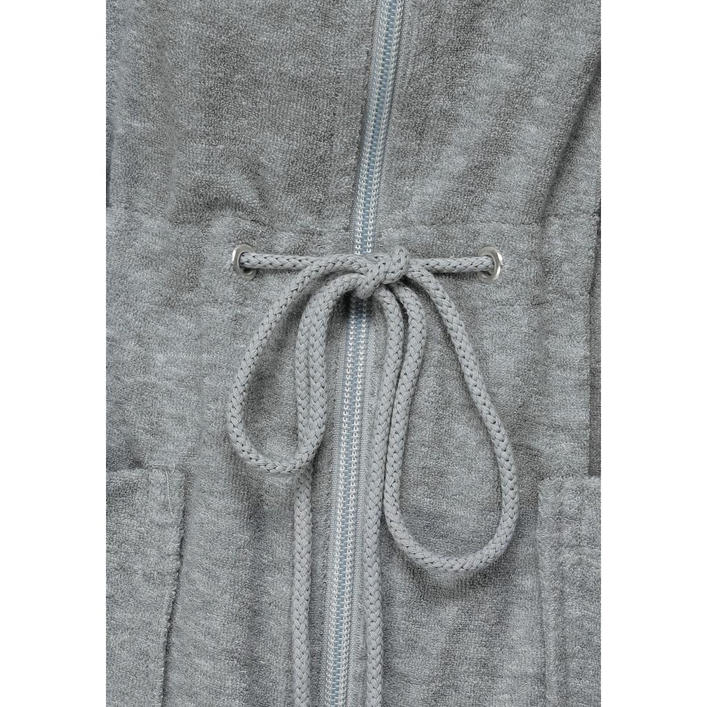 my home Selection Damenbademantel »Nela«, mit praktischem Reißverschluss