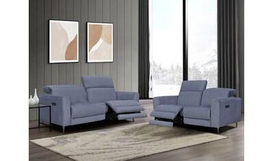 Places of Style Polstergarnitur »Indiana« (Set, Set bestehend aus einem 2 - Sitzer und einem 3 - Sitzer) kaufen