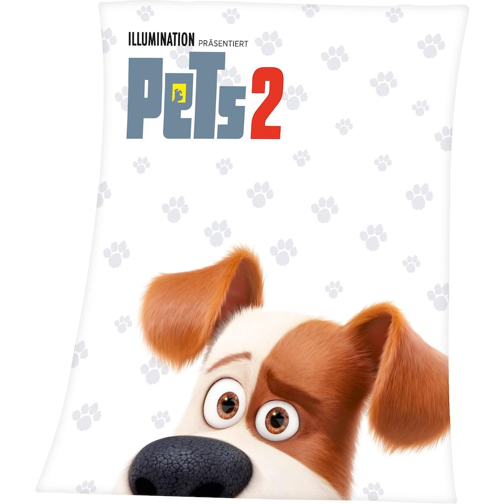 Kinderdecke »Pets 2«, mit tollem Pets 2 Motiv und Schriftzug