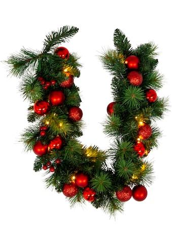 näve LED - Lichterkette »LED - Weihnachtslichterkette mit Dekoration l: 100cm  -  rot«, 20  - flammig kaufen