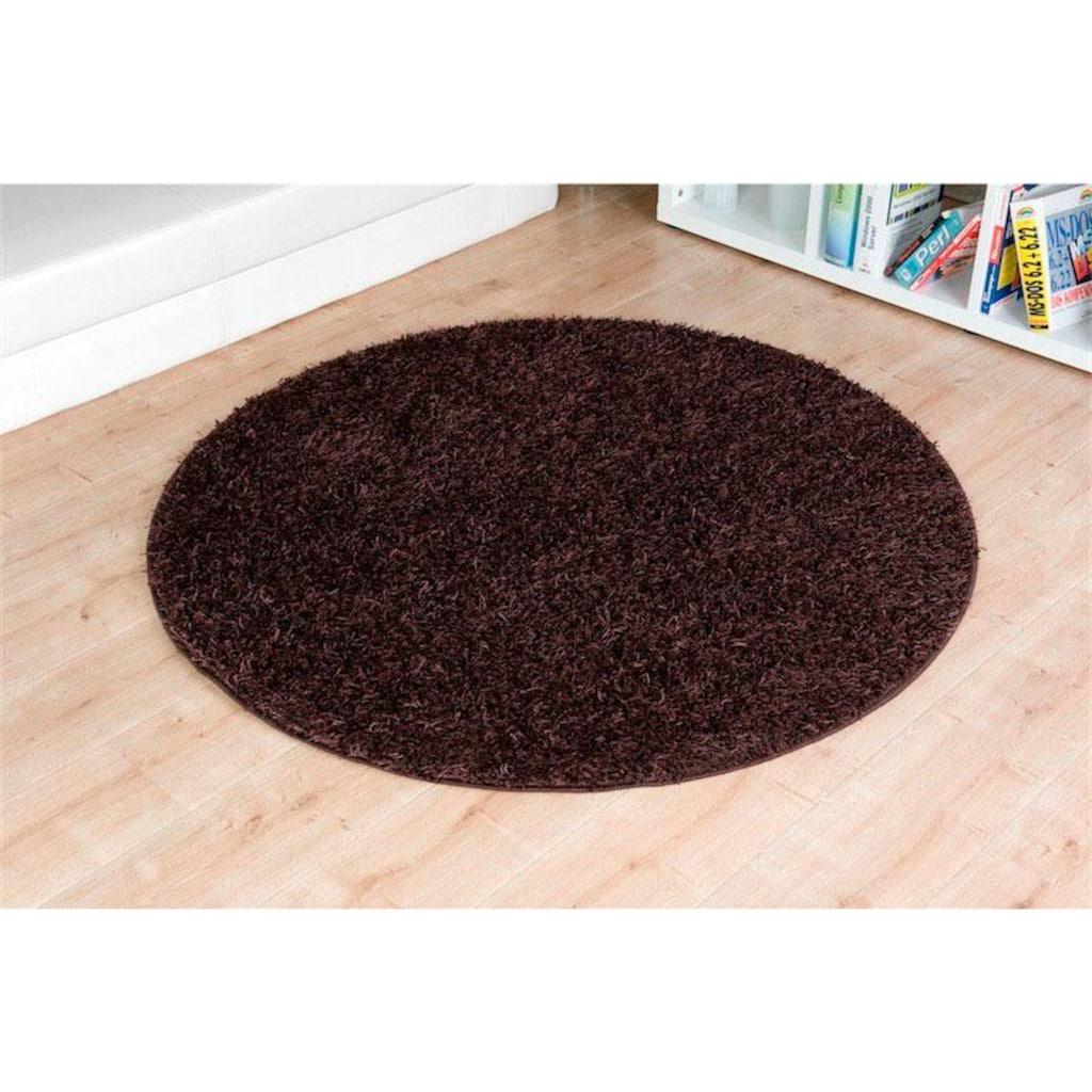 Living Line Hochflor-Teppich »Amarillo«, rund, 35 mm Höhe
