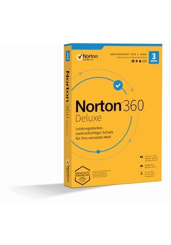 Norton Anwendungssoftware »3 Geräte, 25 GB Cloud-Speicherplatz«, 360 Deluxe 1U 3D... kaufen
