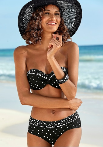 LASCANA Bügel-Bandeau-Bikini-Top »Leona«, mit Pünktchenprint kaufen