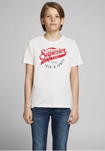 Jack & Jones Junior T - Shirt »JJELOGO TEE SS O - NECK 2« kaufen