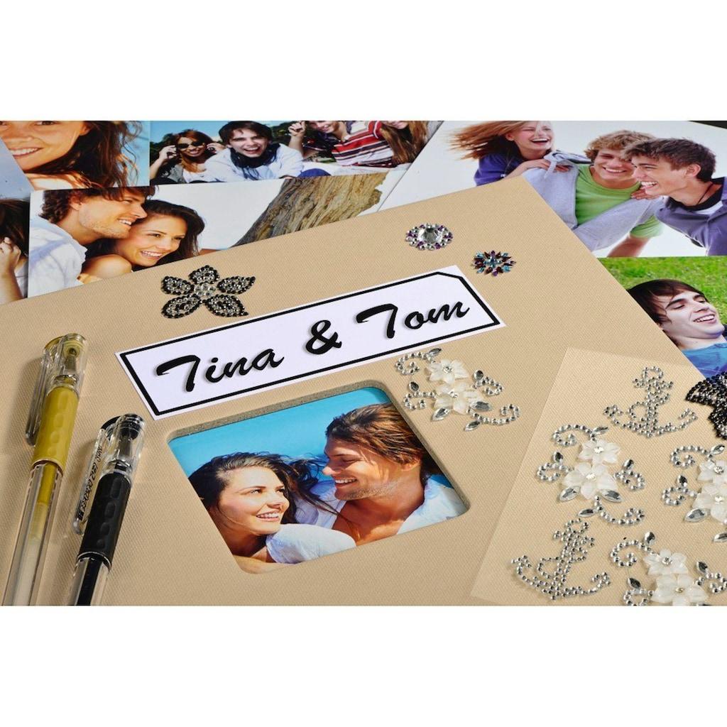 """Hama Fotoalbum »Fotoalbum zum einkleben Taupe«, 24 x 17 cm, 50 Seiten, Photoalbum """" Fine Art"""