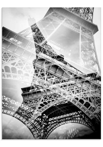 Artland Glasbild »Der doppelte Eiffelturm«, Gebäude, (1 St.) kaufen