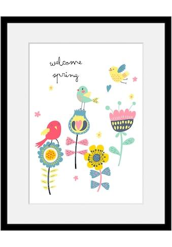 Home affaire Bild »Welcome spring«, mit Rahmen kaufen