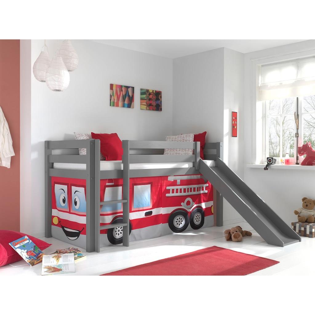 Vipack Hochbett »Pino«, mit Rolllattenrost und Vorhang-Set