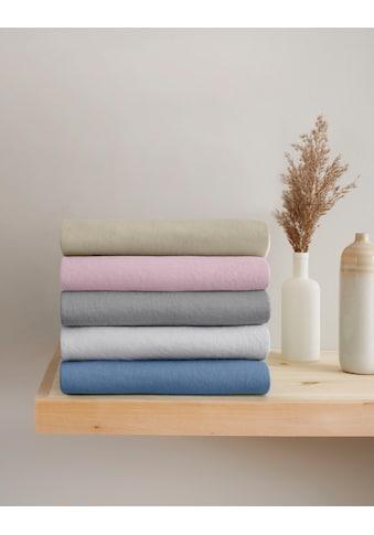OTTO products Spannbettlaken »Jannis«, Mako-Jersey aus zertifizierter Bio-Baumwolle... kaufen