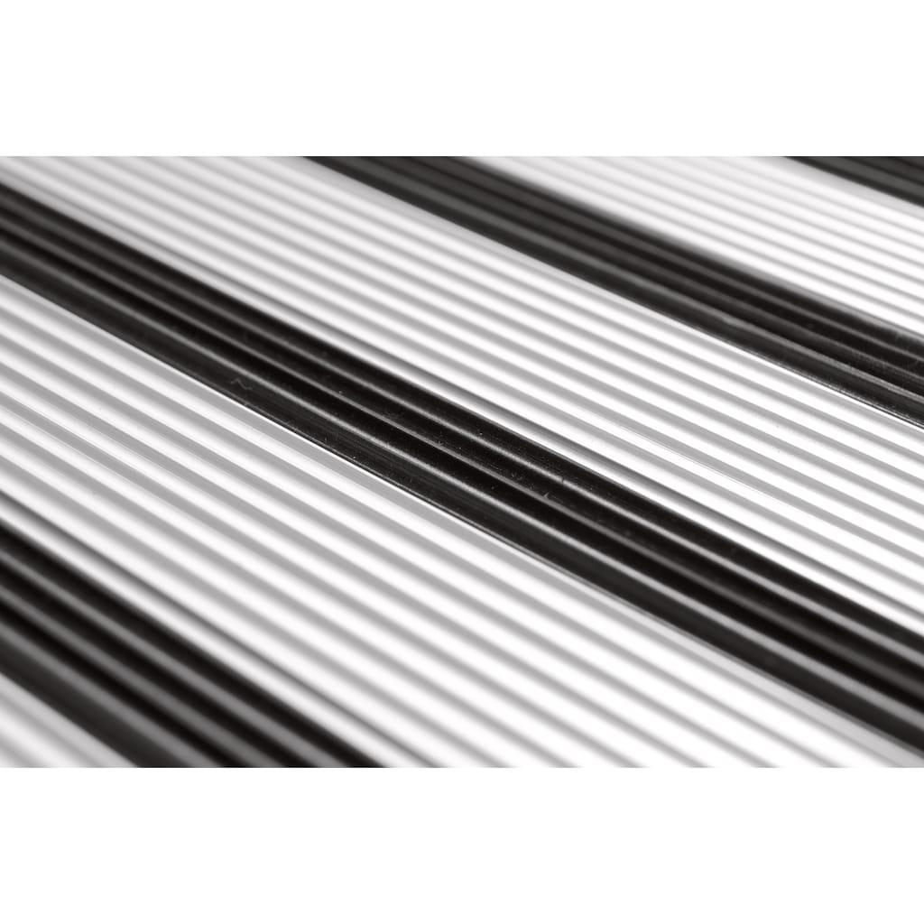 WENKO Trittleiter, Alu-Design, XXL-Stufen, flach klapp- und verstaubar