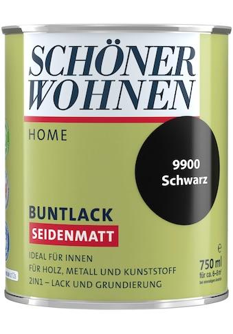 SCHÖNER WOHNEN-Kollektion Lack »Home Buntlack«, seidenmatt, 750 ml, schwarz kaufen
