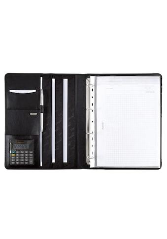 Alassio® Ringbuchmappe »DIN A4, Cremona mit Taschenrechner und Schreibblock«, aus Leder kaufen