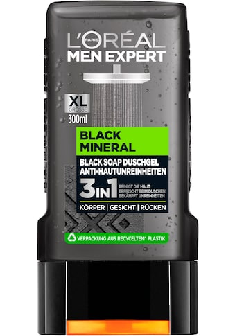 L'ORÉAL PARIS MEN EXPERT Duschgel »Black Mineral«, mit schwarzer Tonerde gegen Hautunreinheiten kaufen