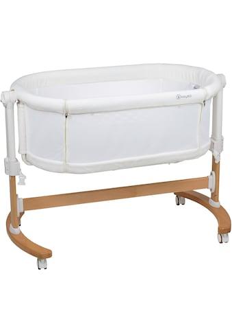 BabyGo Beistellbett »Amila, beige white«, mit Schaukelfunktion kaufen