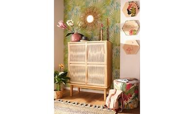 Woodman Highboard »Lidia«, mit Türenfronten aus geflochtenem nartürlichem Hanfseil,... kaufen