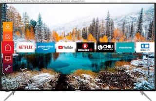 Telefunken D65V800M4CWH LCD-LED Fernseher (164 cm / (65