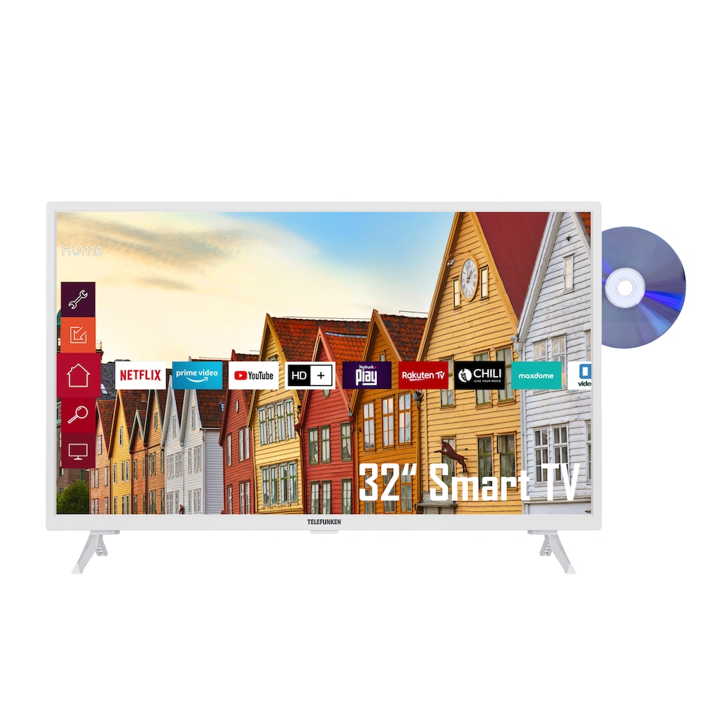 "Telefunken LED-Fernseher »XF32K559D-W«, 80 cm/32 "", Full HD, Smart-TV"