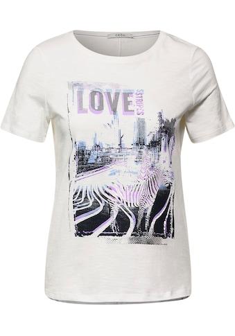 Cecil T-Shirt, mit abgerundetem Saum kaufen