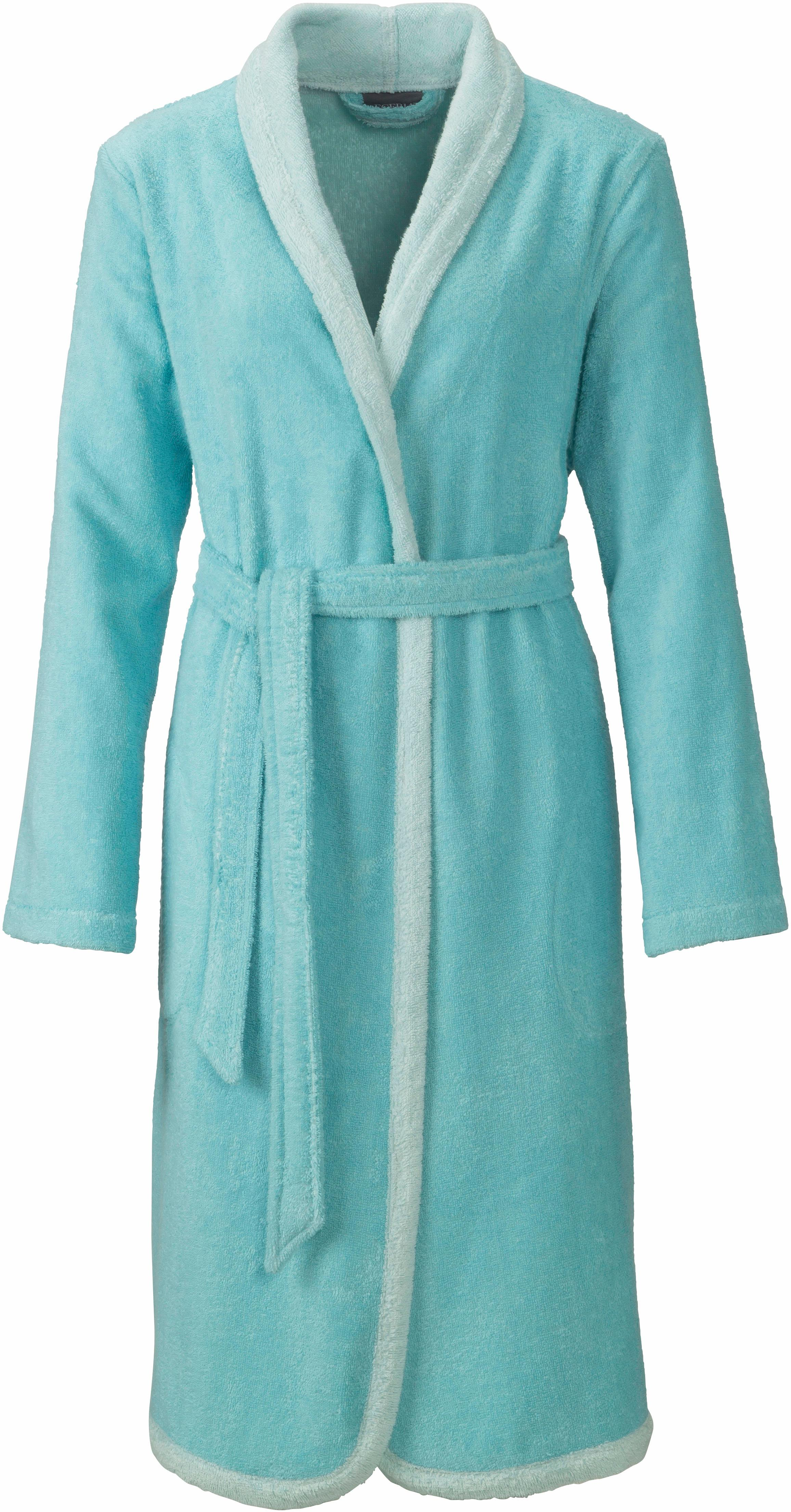 Damenbademantel, Egeria, »Calea«, mit Eingriffstaschen | Bekleidung > Bademode > Bademäntel | Blau | Baumwolle | EGERIA