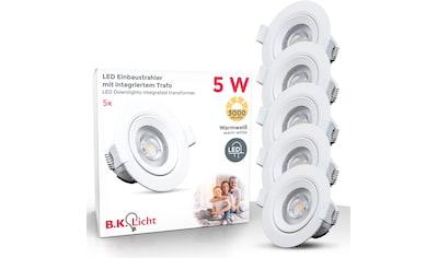 B.K.Licht LED Einbauleuchte »Alcor«, LED-Board, Warmweiß, LED Einbaustrahler Spots Flach Einbau Deckenleuchte Lampe 90mm inkl. 5W 350lm kaufen