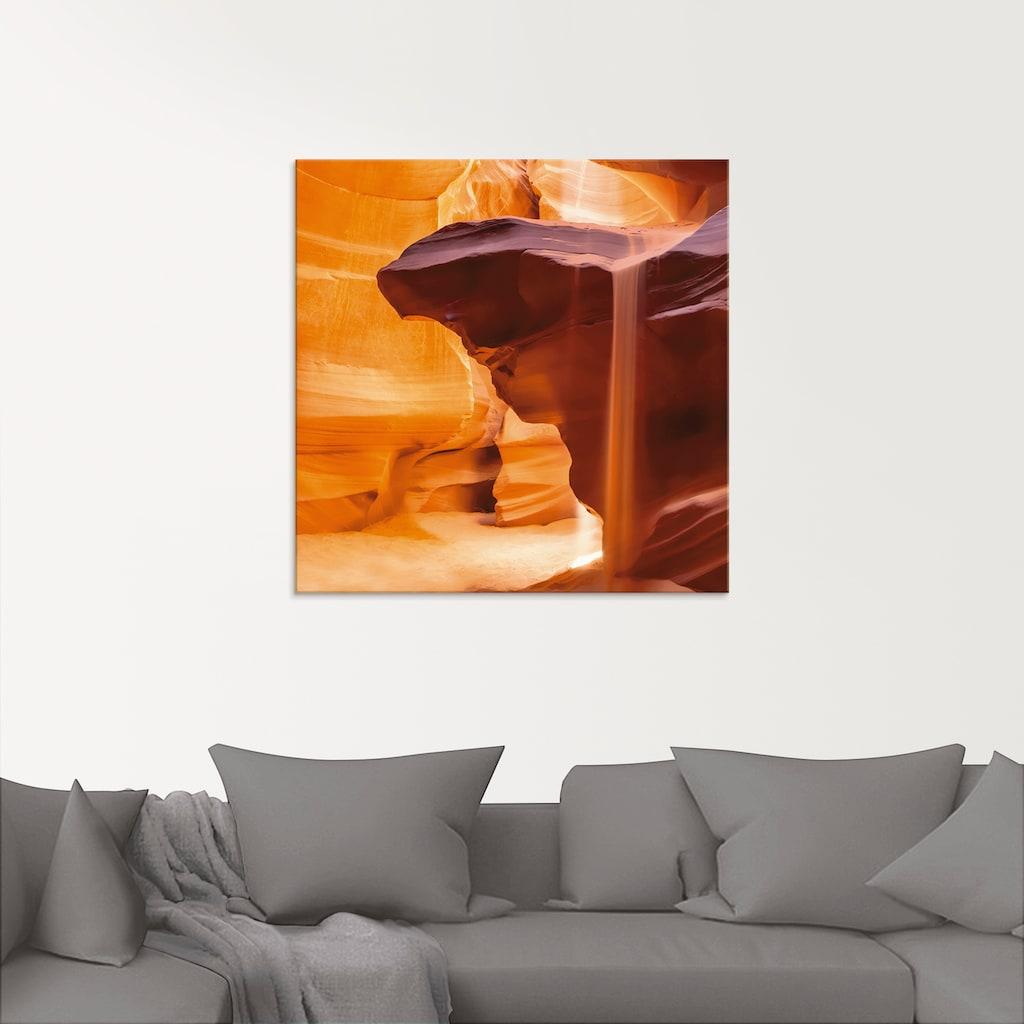 Artland Glasbild »Antelope Canyon Sanddusche«, Amerika, (1 St.)
