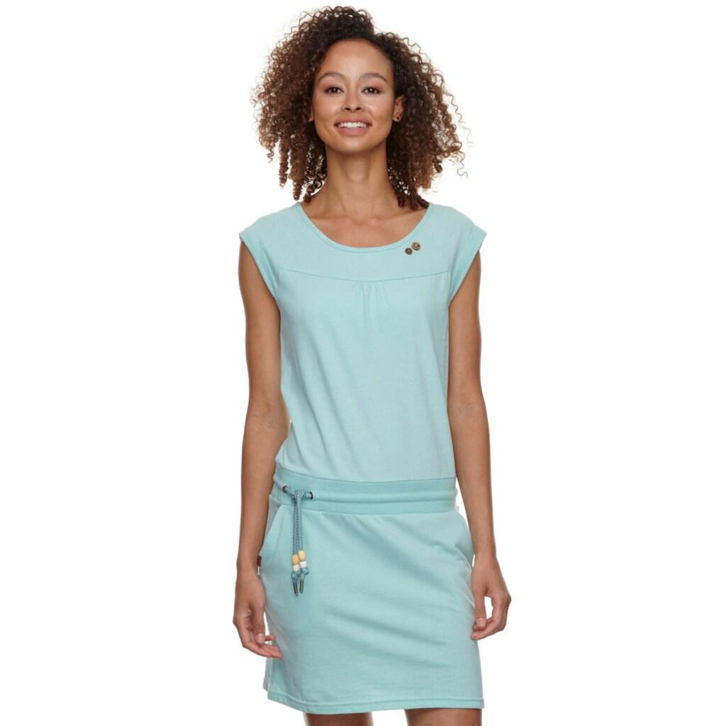 Ragwear Jerseykleid »PENELOPE«, mit Kordelzug und kontrastigen Zierperlen-Besatz