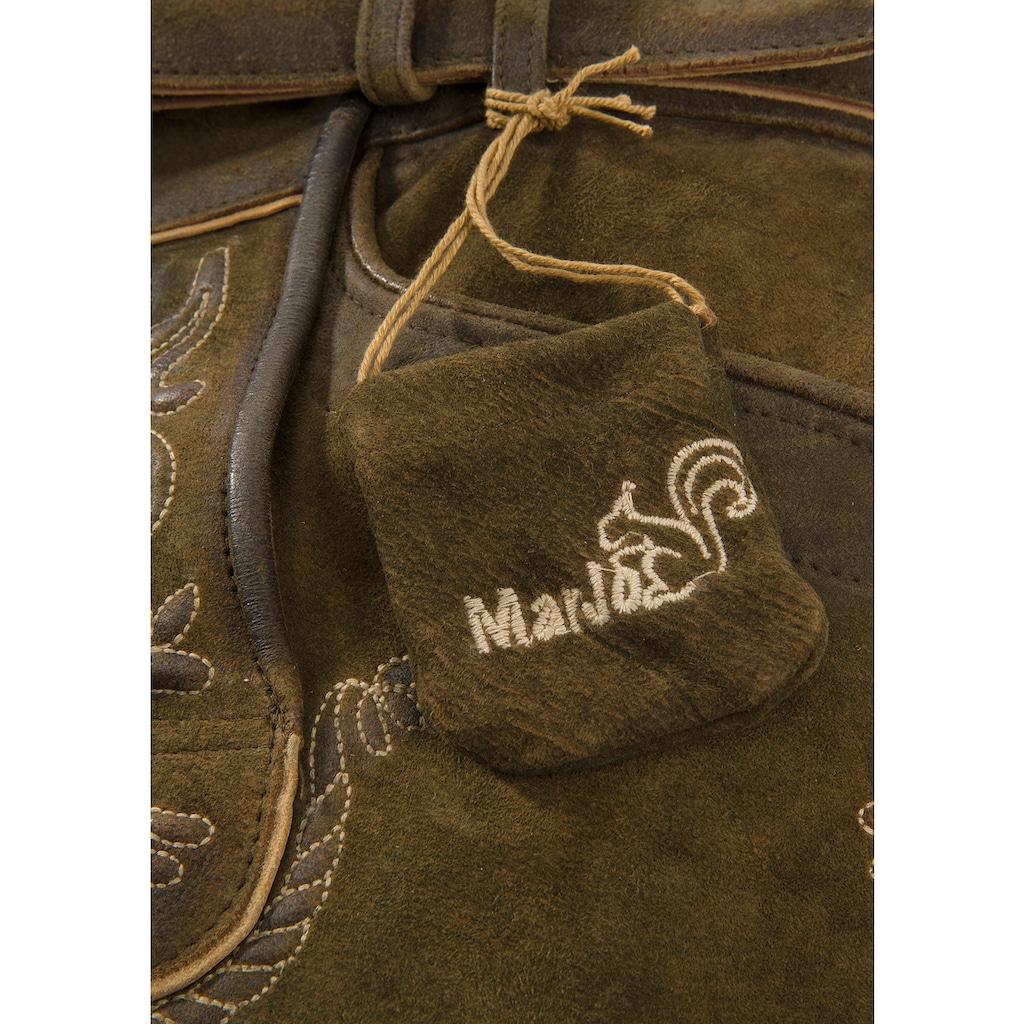Marjo Trachtenlederhose kurz Herren in weicher Lederqualität