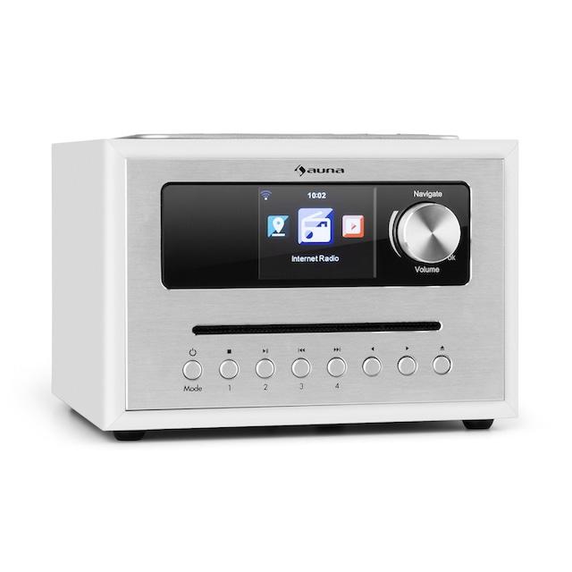 Auna CD Cube Radio Bluetooth HCC Display weiß »Silver Star«