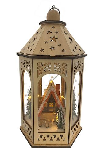 LED Laterne, Warmweiß, mit Weihnachtslandschaft, Höhe ca. 29 cm kaufen