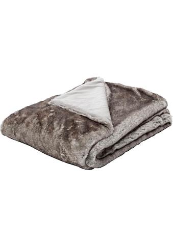 BIEDERLACK Wohndecke »Aspen«, mit Felloptik kaufen