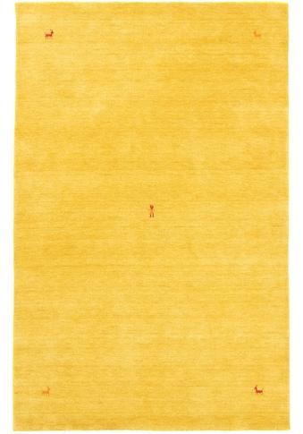 morgenland Wollteppich »GABBEH SAHARA«, rechteckig, 18 mm Höhe, reine Schurwolle, Uni Tiermotiv, Wohnzimmer kaufen