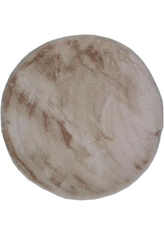 Dekowe Fellteppich »Roger«, rund, 20 mm Höhe, Kunstfell, Kaninchenfell-Haptik, ein echter Kuschelteppich, Wohnzimmer kaufen
