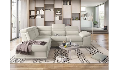 sit&more Ecksofa, mit Sitztiefenverstellung und Federkern, wahlweise mit Bettfunktion... kaufen