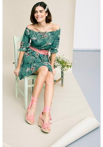 Tamaris Off-Shoulder-Kleid, mit Blumenprint kaufen