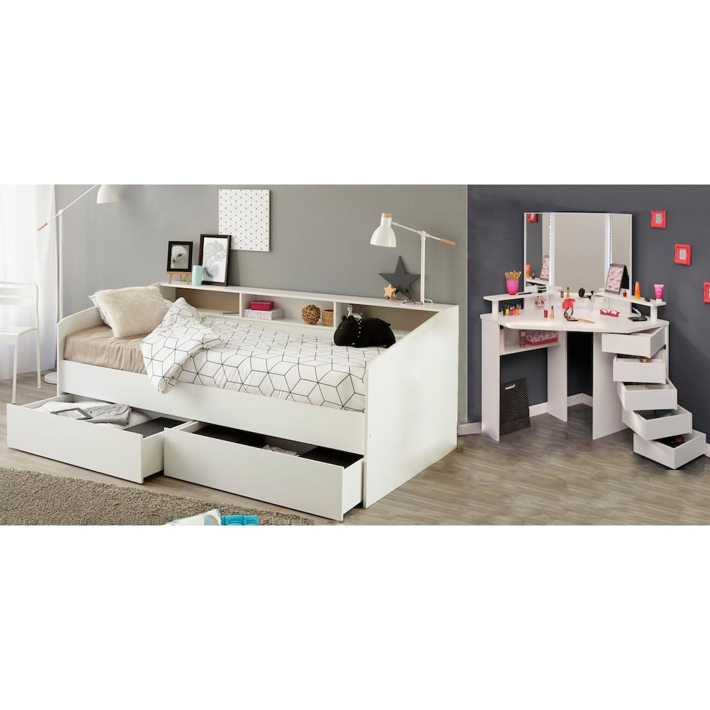 Parisot Jugendzimmer-Set »Sleep«, (Set, 2 tlg.), Stauraumbett und Schminktisch