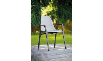 Greemotion Stapelstuhl »Windsor«, 2er-Set, Alu/Kunstsotff, stapelbar, grau kaufen