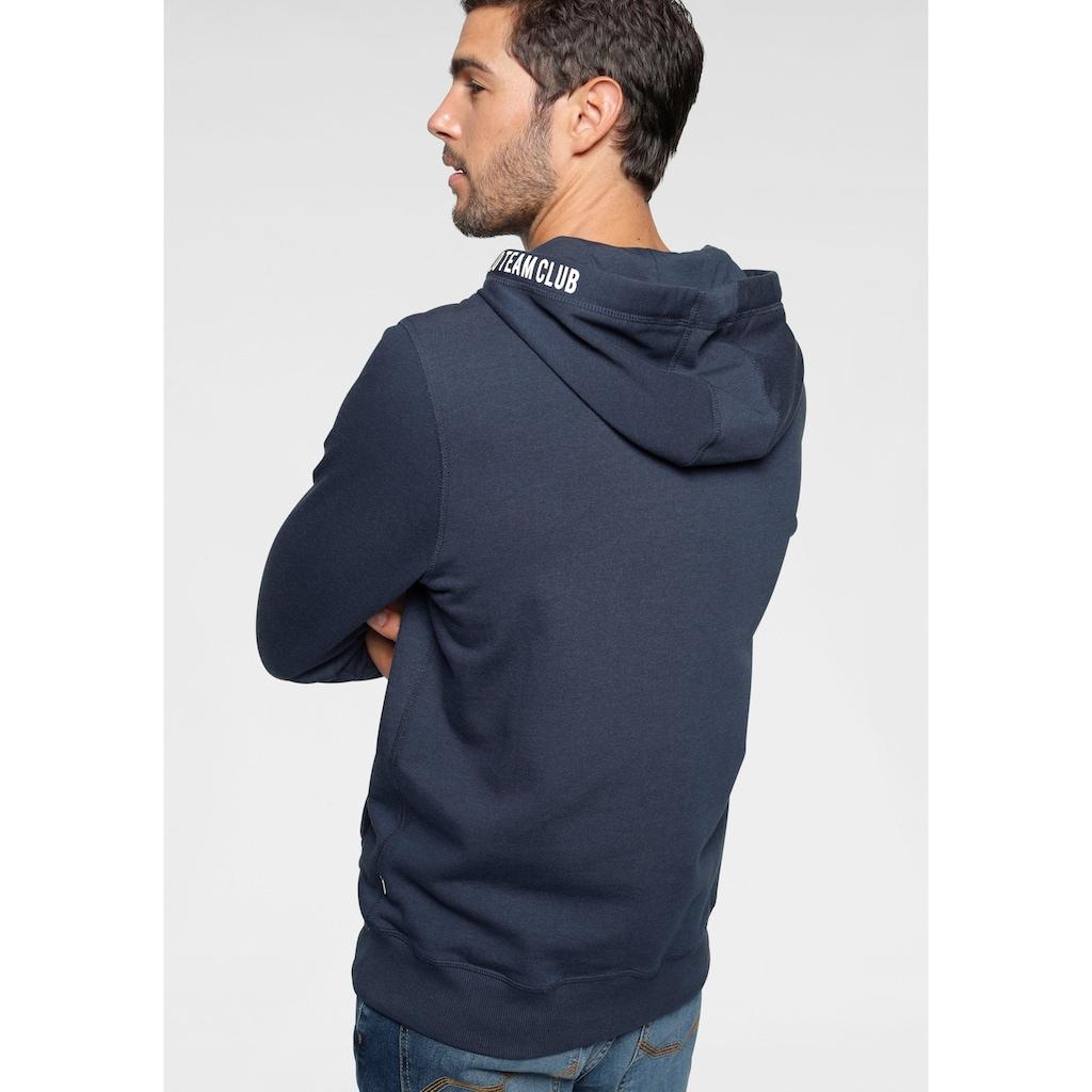 TOM TAILOR Polo Team Sweatshirt, mit Print an der Kapuze