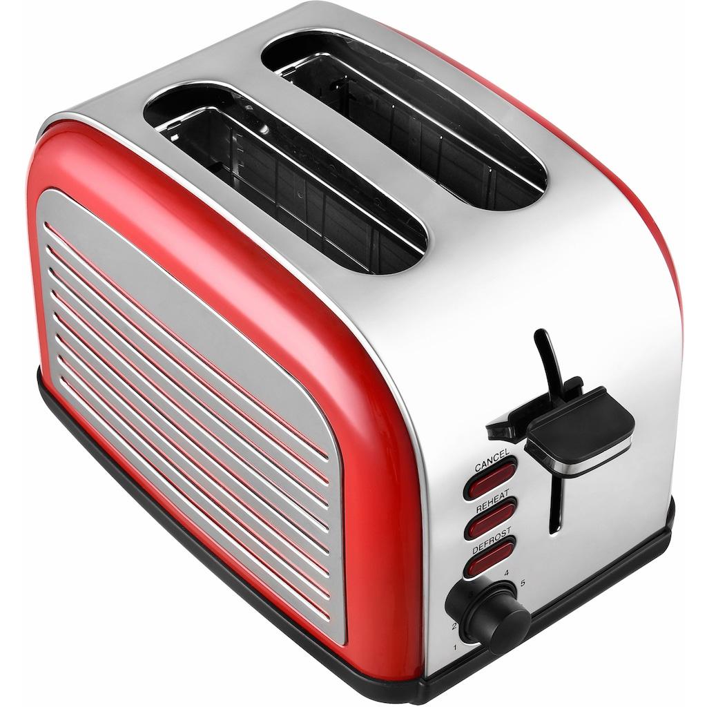 Team Kalorik Toaster »TKG TO 2500 R«, für 2 Scheiben, 1050 Watt