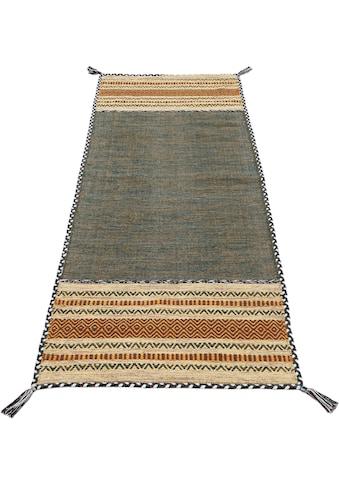 Läufer, »Kelim Azizi«, carpetfine, rechteckig, Höhe 5 mm, handgewebt kaufen